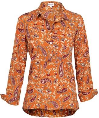 At Last... Soho Shirt-Ochre Paisley