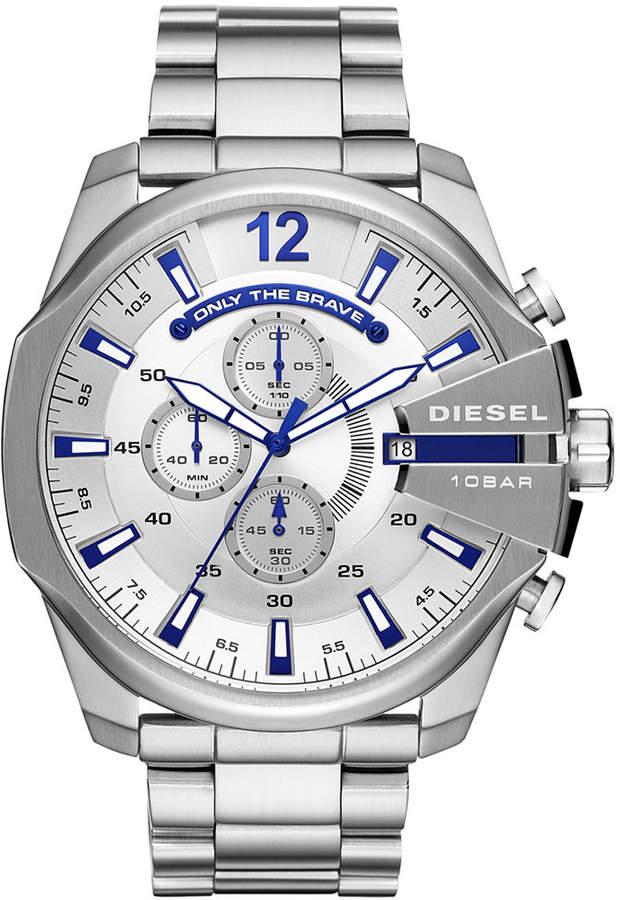Diesel Men's Chronograph Mega Chief Stainless Steel Bracelet Watch 51mm