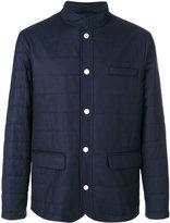 Eleventy padded buttoned jacket - men - Silk/Polyester/Cupro/Wool - S