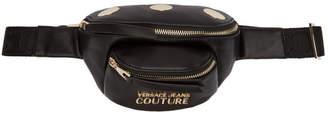 Versace Black Mini Faux-Leather Belt Bag