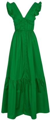 Self-Portrait Cotton maxi dress