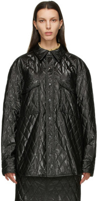 System Black Quilted Jacket