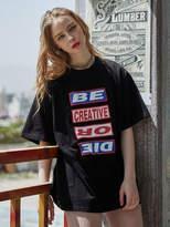 [Unisex] Boxed Slogan T Shirts Black