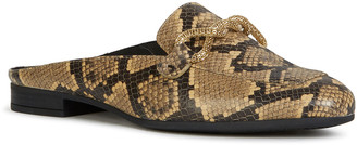 Geox Marlyna 23 Python-Print Mule Loafers