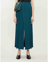 Pleats Please Issey Miyake Mannish high-rise pleated woven trousers
