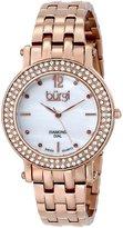 Burgi Women's BUR079RG Analog Display Swiss Quartz Rose Gold Watch