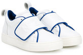 No21 Kids - touch strap sneakers - kids - Calf Leather/Leather/Pig Leather/rubber - 24