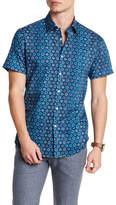Stone Rose Geometric Print Short Sleeve Shirt