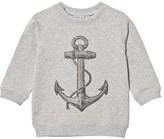 Wheat Sweatshirt Anchor Melange Grey