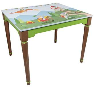 Dragon Optical Fantasy Fields - Knights & themed Hand Crafted Kids Wooden Table (Chair Sold Seperately) | Hand Crafted & Hand Painted Details | Child Friendly Water-based Paint