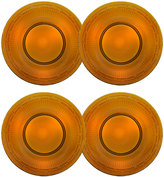 Mikasa Italian Countryside Set of 4 Amber Glass Salad Plates