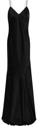 Rachel Zoe Open-back Satin-crepe Maxi Slip Dress