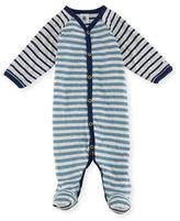 Petit Bateau Mixed-Striped Footie Pajamas, Size 1-9 Months