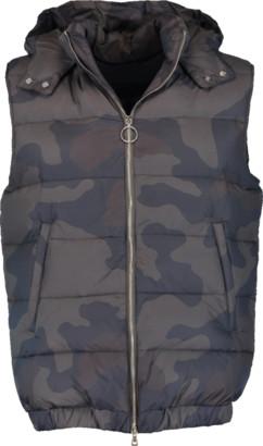Eleventy Camo Hooded Puffer Vest
