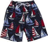 E-Land Kids Sailboat Shorts (Toddler/Kids) - EK Navy-4