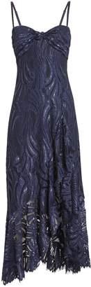 Jonathan Simkhai Metallic Lace Twist Top Dress