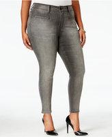Melissa McCarthy Trendy Plus Size Gravel Wash Pencil Jeans