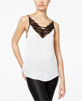 Amy Byer Juniors' Lace-Trim Tank Top