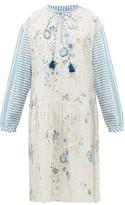 D'Ascoli Napeague Broderie-anglaise Cotton-khadi Dress - Womens - Blue