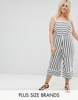 New Look Plus New Look Curve Stripe Jumpsuit