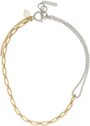 Justine Clenquet Silver and Gold Jamie Choker