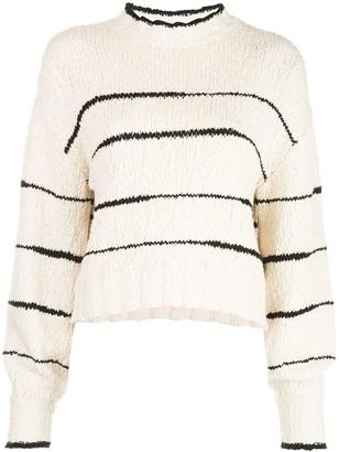Proenza Schouler White Label Stripe Pouf-Sleeve Jumper