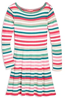 Joules Girls' Janey Striped Swing Dress - Little Kid, Big Kid