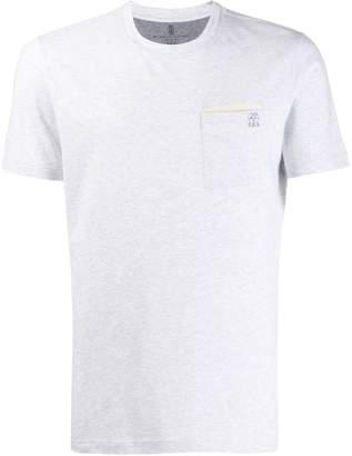 Brunello Cucinelli slim-fit embroidered logo T-shirt