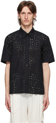 Ami Alexandre Mattiussi Black Broderie Anglaise Shirt