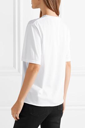 Saint Laurent Printed Cotton-jersey T-shirt - White