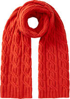 Jigsaw Wool and Cashmere Blend Cable Knit Scarf