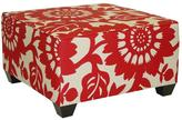 Home Decorators Collection Georgetown Square Cocktail Ottoman in Cherry
