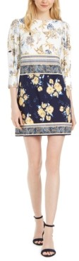 Vince Camuto Petite Patchwork-Floral Dress