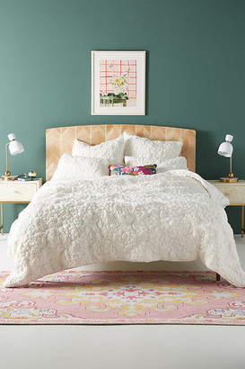 Anthropologie Textured Piazza Quilt By in White Size Q top/bed