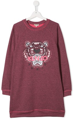 Kenzo Kids TEEN Tiger logo sweatshirt dress