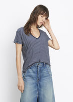 Vince Striped Relaxed V-Neck Tee