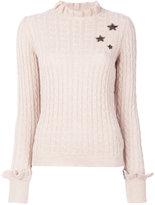RED Valentino star embroidered jumper - women - Polyamide/Viscose/Angora/Virgin Wool - S
