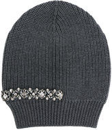 No.21 crystal embellished beanie - women - Silk/Wool/Metal (Other)/glass - One Size