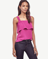 Ann Taylor Petite Strappy Ruffle Top