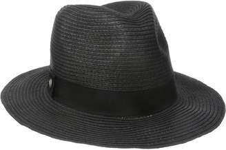 Coal Women's The Abbie Lightweight Paper Straw Fedora with Ribbon