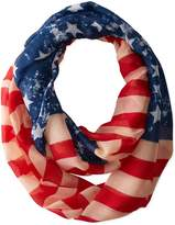 D&Y Women's American Flag Lightweight Loop Scarf