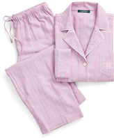 Ralph Lauren Petite Stripe Cotton-Blend Pajama Set