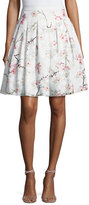 Ted Baker Cherry Blossom Burnout Skirt, Light Gray