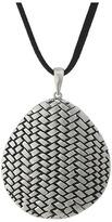 """The Sak Basketweave Texture Pendant Necklace 18"""""""