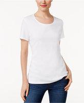 Karen Scott Scoop-Neck T-Shirt, Only at Macy's