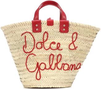 Dolce & Gabbana Kendra Medium raffia tote