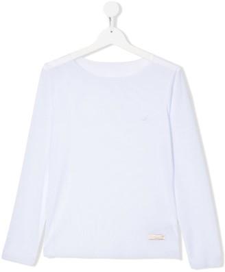 MonnaLisa TEEN sheer long sleeve top