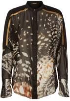 Roberto Cavalli Shells Print Silk Blouse
