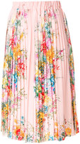 No.21 floral print pleated skirt
