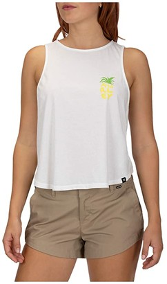 Hurley Tropicales Flouncy Tank Top (White) Women's Sleeveless